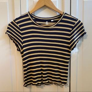 Pacsun MetoWe Striped Cropped Tee
